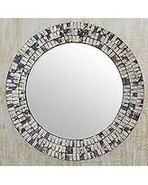 New Year s Sale Glass mosaic wall mirror Forest Mosaic India