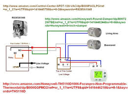 wire thermostat to control zone damper Capillary Thermostat Wiring Diagram Thermostat Wire Colors