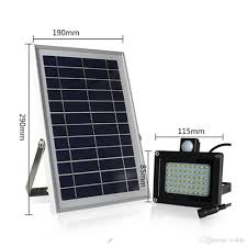 cable 6v 6w solar panel 54 led pir motion sensor solar floodlight outdoor waterproof garden street road light lamp with 5m