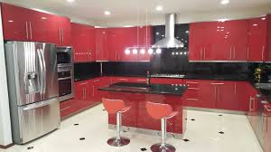 Red Kitchen Floor Modern Style Red Kitchen Remodel Remodeling In San Diego