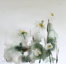 daisy flowers original watercolor painting fl by canotstop