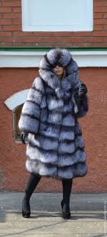 fur coat black brown silver foxes cross