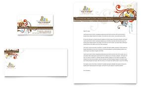 Church Youth Group Business Card & Letterhead Template - Word ...