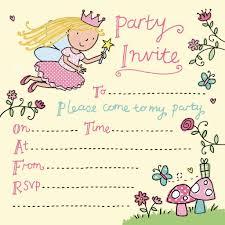 Fairy Girls Party Invitation