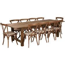 Saranac hickory medium back upholstered side chair. 9 X40 Farm Table 10 Chair Set Xa Farm 15 Gg Foldingchairs4less Com