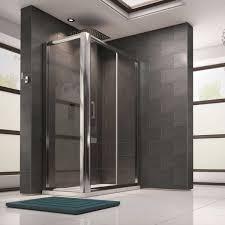 miles 8mm toughened glass sliding shower door and optional side panels