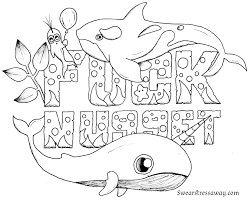 Fucknugget Swear Word Coloring Page Adult
