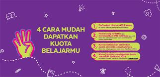 Paket yellow merupakan paket internet im3 ooredoo yang dikeluarkan sejak 2018. Program Kuota Edukasi Gratis Axis