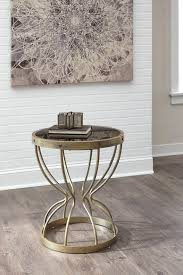 marxim gold round end table