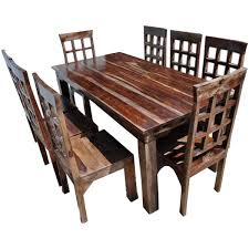 cheap dining room table and chairs. Portland-rustic-furniture-extendable-dining-room-table-chair- Cheap Dining Room Table And Chairs