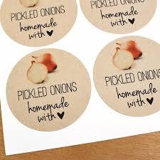 Pickled Onion Mason Jar Labels