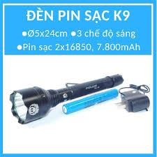 Đèn pin siêu sáng K9 + 1 pin sạc 7.800mAh + 1 cục sạc điện