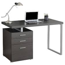 Computer Desk with Drawers - Gray - EveryRoom
