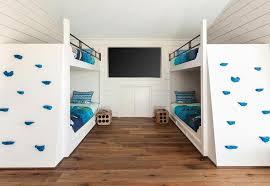 built in bunk beds with climbing wall transitional boy s room