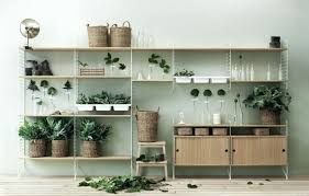 shelves for plants string shelving with plants and baskets outdoor window  shelves for plants . shelves for plants ...