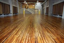 Luxurious Design Idea of Eco Friendly Flooring Made of Bamboo in Brown Color