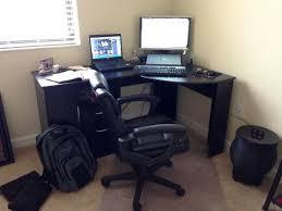 image of staples corner desk black