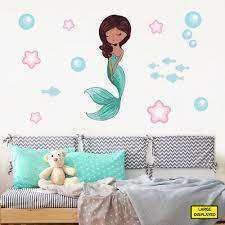 mermaid wall stickers decals kids girls