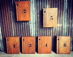 upcycled lockers made from vintage old school desks