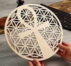 Our brass ankh makes a great witchcraft gift or addition to your wiccan tool set. Amazon Com Simurg 11 5 Ankh In Flower Of Life Wall Art Ancient Egyptian Wall Decor Crystal Grid Sacred Geometry Wooden Wall Art Hanging Wall Sculptures Laser Cut Wood Sign Home Decor Everything Else