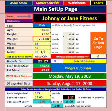 p90x excel main set up page