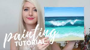 painting tutorial acrylic ocean for beginners katie jobling art you