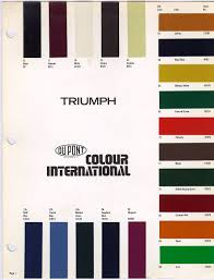 President Paint Color Chart Pin By Nicole Herzog On Triumph Project Triumph