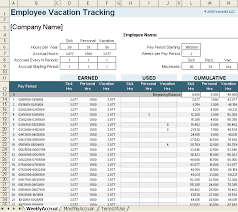 Vacation And Sick Time Tracking Spreadsheet Vacation Accrual And Tracking Template With Sick Leave Accrual