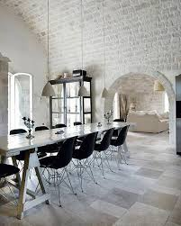 22 Modern Kitchens and Dining Room Designs Enhanced by Exposed Brick Wall  or Ceiling