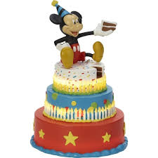 Disney Showcase Mickey Mouse Birthday Cake Led Tabletop Figurine