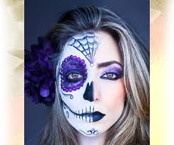 sugar skull makeup try a half faced skull