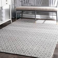 nuloom handmade flatweave moroccan trellis grey cotton rug 9 x 12