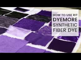How To Dye Fabric Rit Dyemore Synthetic Dye