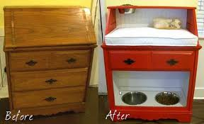 repurpose furniture dog. Creative Ideas - DIY Repurpose An Old Desk Into A Pet Station Furniture Dog O