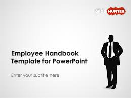 Free Employees Handbook Employee Handbook Template For Powerpoint Powerpoint Presentation Ppt