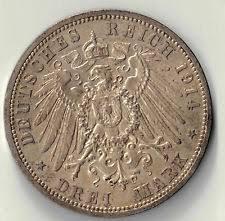 1914 a imperial germany wilhelm ii silver drei mark coin 24185