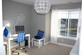 Blue White Home Office Modern Home Office Other