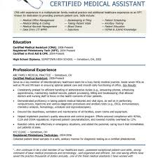 Certified Medical Assistant Resume Samples Cma Resume Examples Examples of Resumes 45
