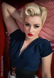 beautiful vine pinup makeup with victory rolls rockabilly look fabulous inspirations if