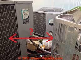 gas fireplace vent too close to air conditioner compressor condenser unit c inspectapedia