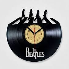 vinyl record clock the beatles abbey road vinyl eaters is an upcycling made