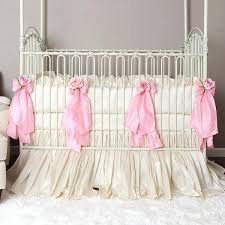 in pink crib bedding cotton or silk set baby sets uk girls