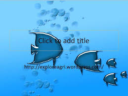 Fish Template Free Download Blue Powerpoint Templates Presentation