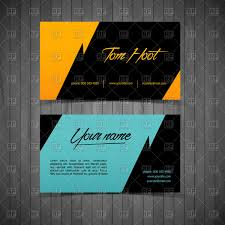 Business Cards Simple Design Templates Vector Image Of Objects