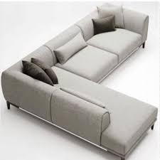 modern grey designer l shaped sofa set