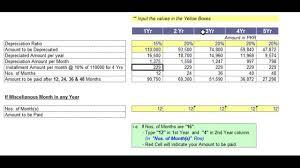 Depreciation Schedule Calculator Car Cost Depreciation Calculator