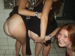 Bare naked round asses