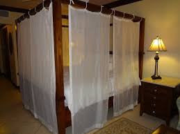 Rustic Detail Canopy Bed Drapes Target In Elegant Bedroom With ...