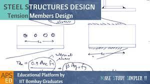 Structural Design Formulas Design Strength Of Tension Members Design Of Steel Structures
