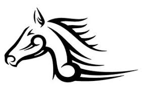 tribal horse head silhouette. Interesting Silhouette To Tribal Horse Head Silhouette E